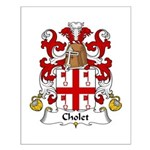 Cholet Family Crest  Small Poster