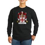 Cholet Family Crest Long Sleeve Dark T-Shirt