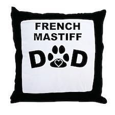 French Mastiff Dad Throw Pillow