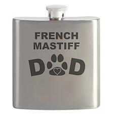French Mastiff Dad Flask