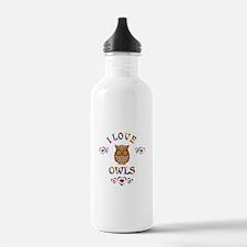 I Love Owls Water Bottle