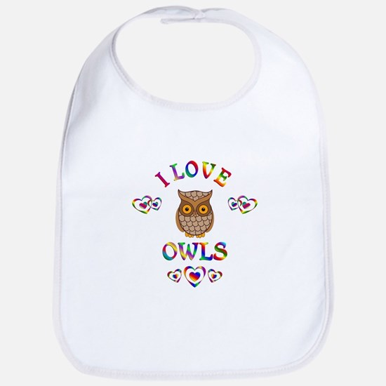 I Love Owls Bib