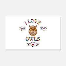 I Love Owls Car Magnet 20 x 12