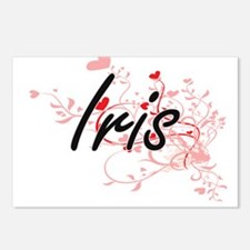 Iris Artistic Name Design Postcards (Package of 8)