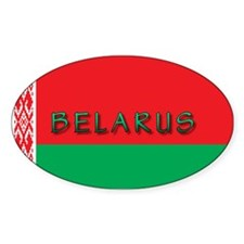 Belarus Flag Oval Decal