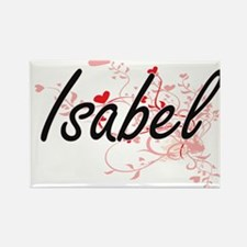 Isabel Artistic Name Design with Hearts Magnets