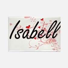 Isabell Artistic Name Design with Hearts Magnets