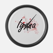 Iyana Artistic Name Design with H Large Wall Clock