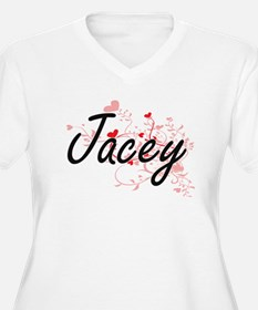 Jacey Artistic Name Design with Plus Size T-Shirt