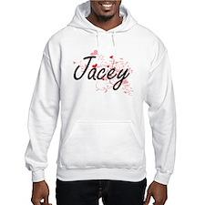 Jacey Artistic Name Design with Hoodie Sweatshirt