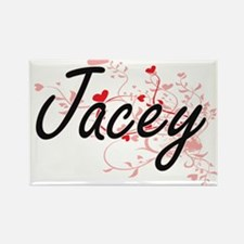 Jacey Artistic Name Design with Hearts Magnets