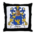 Chirac Family Crest  Throw Pillow