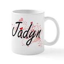 Jadyn Artistic Name Design with Hearts Mug