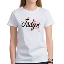 Jadyn Artistic Name Design with Hearts T-Shirt