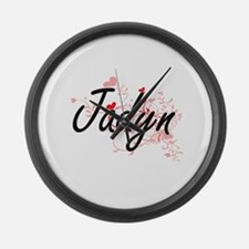 Jadyn Artistic Name Design with H Large Wall Clock