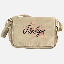 Jaelyn Artistic Name Design with Hea Messenger Bag