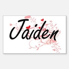 Jaiden Artistic Name Design with Hearts Decal
