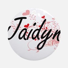 Jaidyn Artistic Name Design with Ornament (Round)