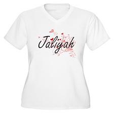 Jaliyah Artistic Name Design wit Plus Size T-Shirt