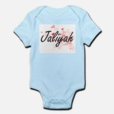 Jaliyah Artistic Name Design with Hearts Body Suit