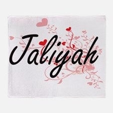 Jaliyah Artistic Name Design with He Throw Blanket