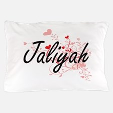 Jaliyah Artistic Name Design with Hear Pillow Case