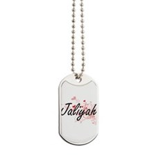 Jaliyah Artistic Name Design with Hearts Dog Tags