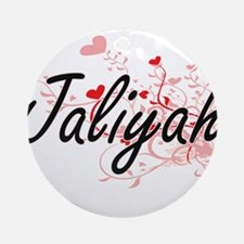 Jaliyah Artistic Name Design with Ornament (Round)