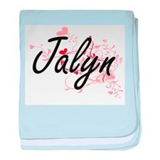 Jalyn Artistic Name Design with Heart baby blanket