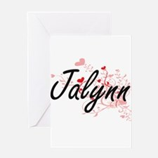 Jalynn Artistic Name Design with He Greeting Cards