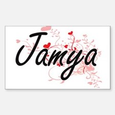 Jamya Artistic Name Design with Hearts Decal