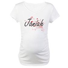 Janiah Artistic Name Design with Shirt