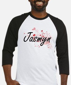 Jasmyn Artistic Name Design with H Baseball Jersey