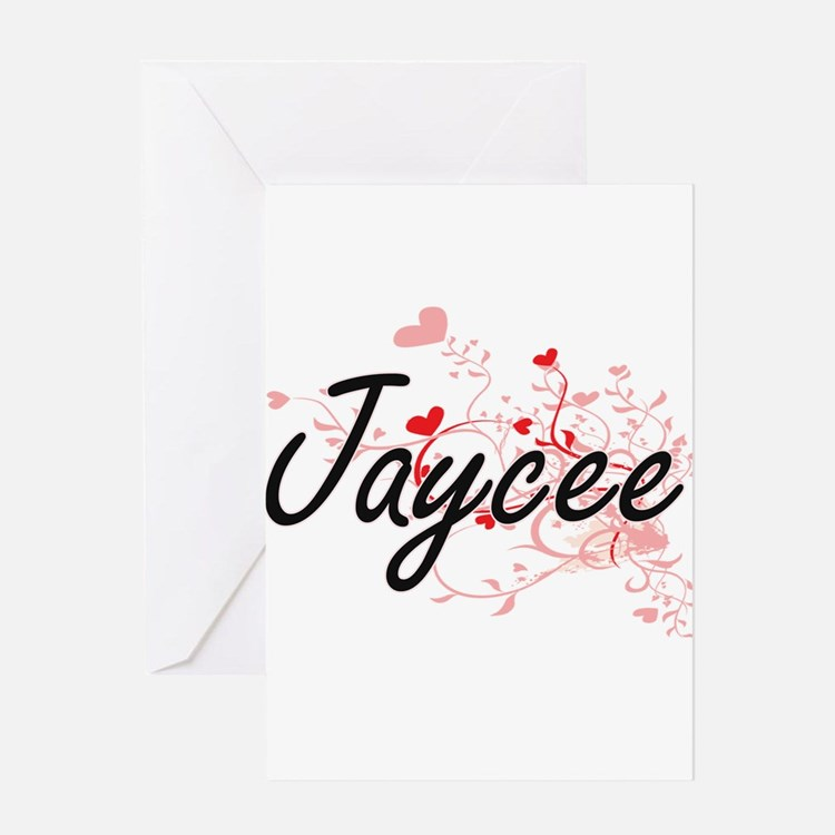 Jaycee Artistic Name Design with He Greeting Cards