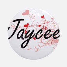 Jaycee Artistic Name Design with Ornament (Round)
