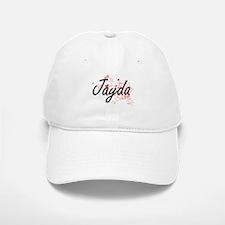 Jayda Artistic Name Design with Hearts Baseball Baseball Cap