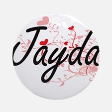 Jayda Artistic Name Design with H Ornament (Round)