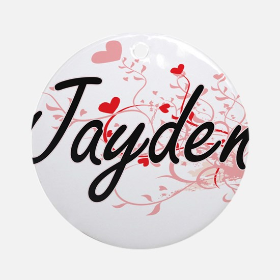 Jayden Artistic Name Design with Ornament (Round)