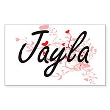 Jayla Artistic Name Design with Hearts Decal