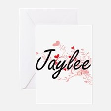Jaylee Artistic Name Design with He Greeting Cards