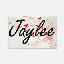 Jaylee Artistic Name Design with Hearts Magnets