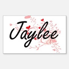 Jaylee Artistic Name Design with Hearts Decal