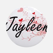 Jayleen Artistic Name Design with Ornament (Round)