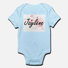 Jaylene Artistic Name Design with Hearts Body Suit