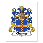 Chesnes Family Crest Small Poster