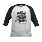 Chesnes Family Crest Kids Baseball Jersey
