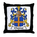 Chesnes Family Crest Throw Pillow