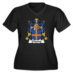 Chesnes Family Crest Women's Plus Size V-Neck Dark