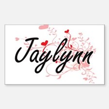 Jaylynn Artistic Name Design with Hearts Decal