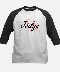 Jazlyn Artistic Name Design with H Baseball Jersey